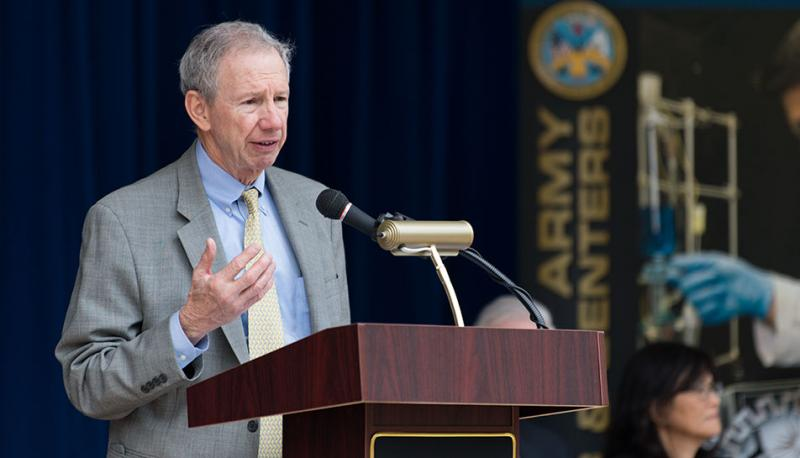 Dr. Michael D. Griffin, the Under Secretary of Defense for Research and Engineering; Photo by the Army Multimedia & Visual Information Directorate